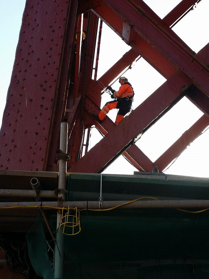 rope access structural survey at Blackpool tower