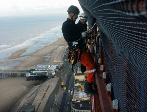 Blackpool Tower Safety Netting and Glazing Installation