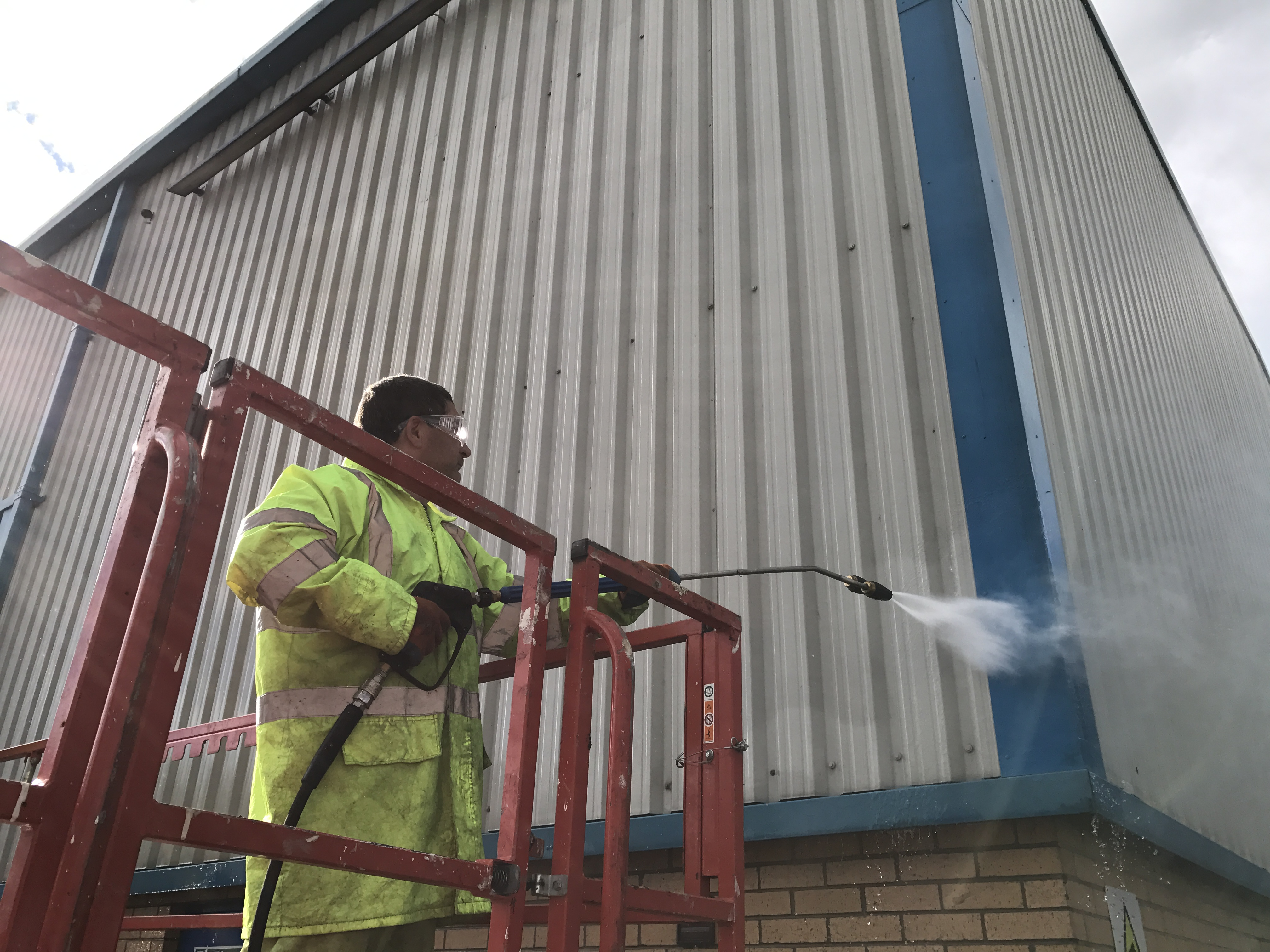 Structural Cleaning - Cladding and Fascia Cleaning. Cladding Cleaning. High level Specialists Ltd.