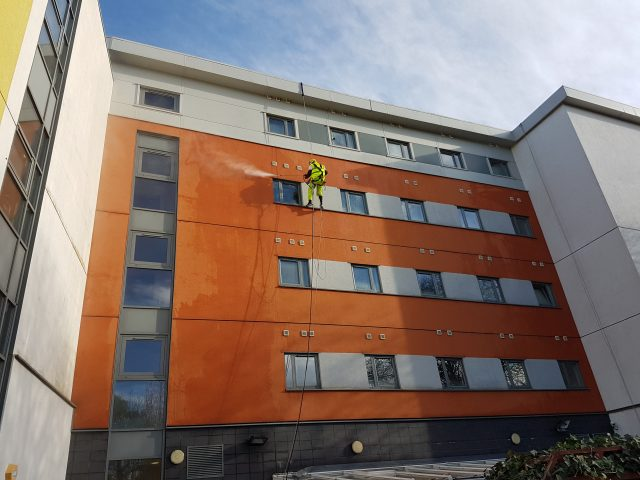 rope access pressure washing at height work at height