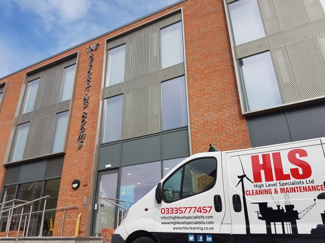 Rope Access Sign Installation - High Level Specialists. Banner and Sign Installation Birmingham