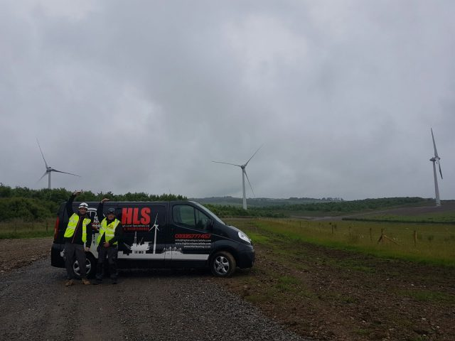 HLS provide support services to windfarms nationally - cleaning, maintenance, inspections, rescue cover.